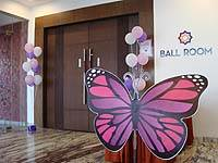 Pink Butterfly Birthday theme Large pink and purple butterfly