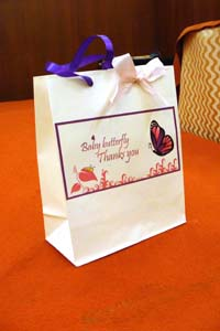 Stickered gift bags - Butterfly Theme Naming Ceremony Decoration Supplies