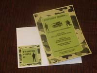 Camouflage Birthday theme Rectangular Invitations