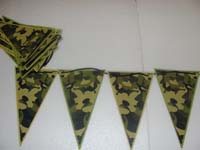 Buntings - Camouflage party supplies