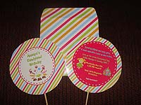 Candy Land theme Invitations