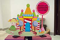 Candy Land theme Welcome banner with custom text
