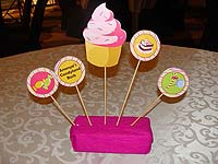 Skewer based center pieces - Candy Land