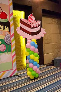 Candy Land theme Pastry cutout