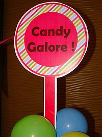 Candy Land theme Lolly with custom text poster