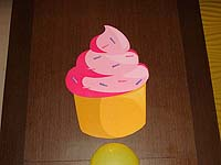 Candy Land theme Cupcake cutout
