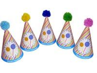 Candy hats with pompoms - Candy Land