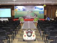 Car theme  - Stage layout with cutouts and car