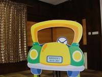 Vehicles birthday theme Photo Booth