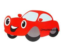 Vehicles theme Red car