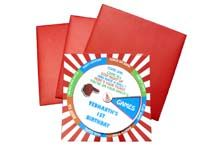 Circus Birthday theme Pinwheel based interactive invitation card