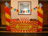Circus Birthday theme Candy Counter