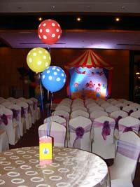 Circus Birthday theme Box type centerpiece (Balloons not included)