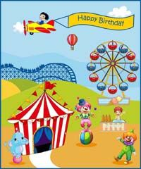 Circus Birthday theme banner