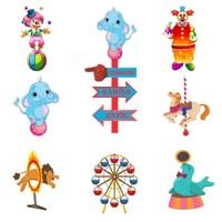Circus Birthday theme Posters pack