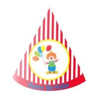 Circus theme Red striped clown / carnival hat