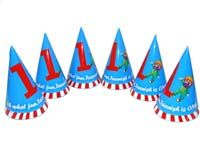 Blue No 1 carnival hats