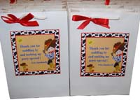 Stickered gift bags - Cowboy theme birthday party supplies