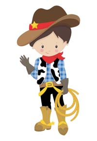 Cowboy theme  - Cowboy with lasso poster