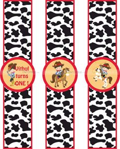 Cowboy theme Wristbands