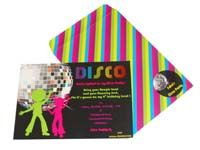 Disco theme Custom invitations