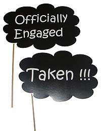 Engagement theme Officially engaged photo prop