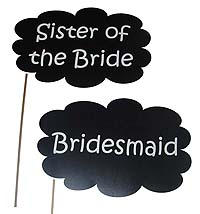Engagement theme Bridesmaid photo prop