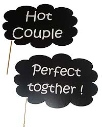 Hot couple photo prop