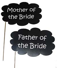 Parents of the bride photo prop