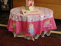 Fairy Princess Birthday theme Cake table cover
