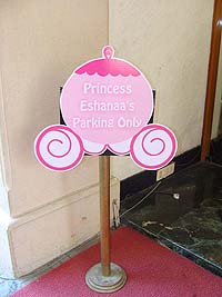 Fairy Princess Birthday theme Princess parking