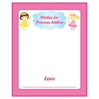 Fairy Princess Birthday theme Wish tree tags (Pack of 10)