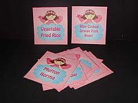 Fairy Rectangular food labels