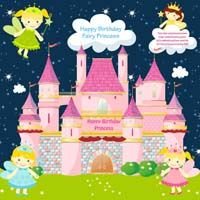 Fairy Princess Birthday theme Fairy castle banner