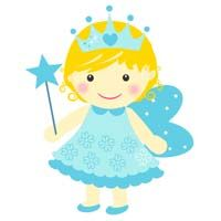 Fairy Princess Birthday theme Blue fairy with crown - poster