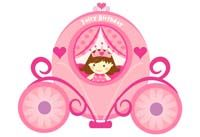 Fairy Princess Birthday theme Fairy carriage poster