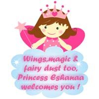 Fairy Princess Birthday theme Pink Fairy with crown poster