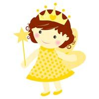 Fairy Princess Birthday theme Yellow fairy with crown - poster