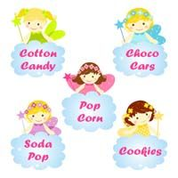Fairy Princess Birthday theme Shaped Fairy food labels