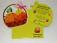 Fruit basket theme Custom invitations
