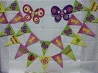 Buntings - Garden Theme Birthday Party