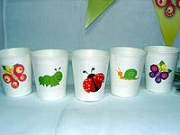 Garden theme cups - Garden Party