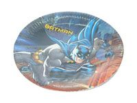 Superhero theme Batman Birthday Party Plate