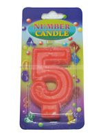 Number Candle - 5