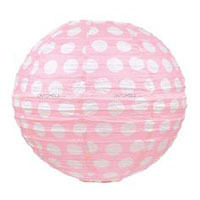 Party Supplies theme Pink Polka Paper Lanterns