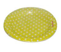 Birthday Party Plate - Yellow and white polka - Yellow Baby Shower