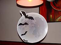 Bats through full moon - Hallooween