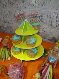 Hawaiian theme Cup cake stands