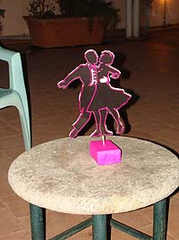 Couple dancing centerpiece