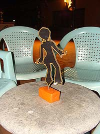 Orange dancing girl centerpiece
